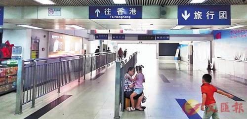 香港暴乱致内地旅游团绝迹 口岸几分钟难见客人|香港|暴力事件