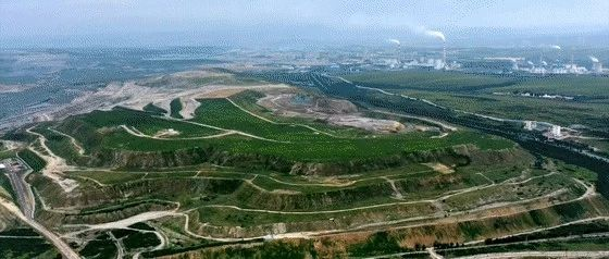 霍林河畔、露天煤矿边,绿意如何?