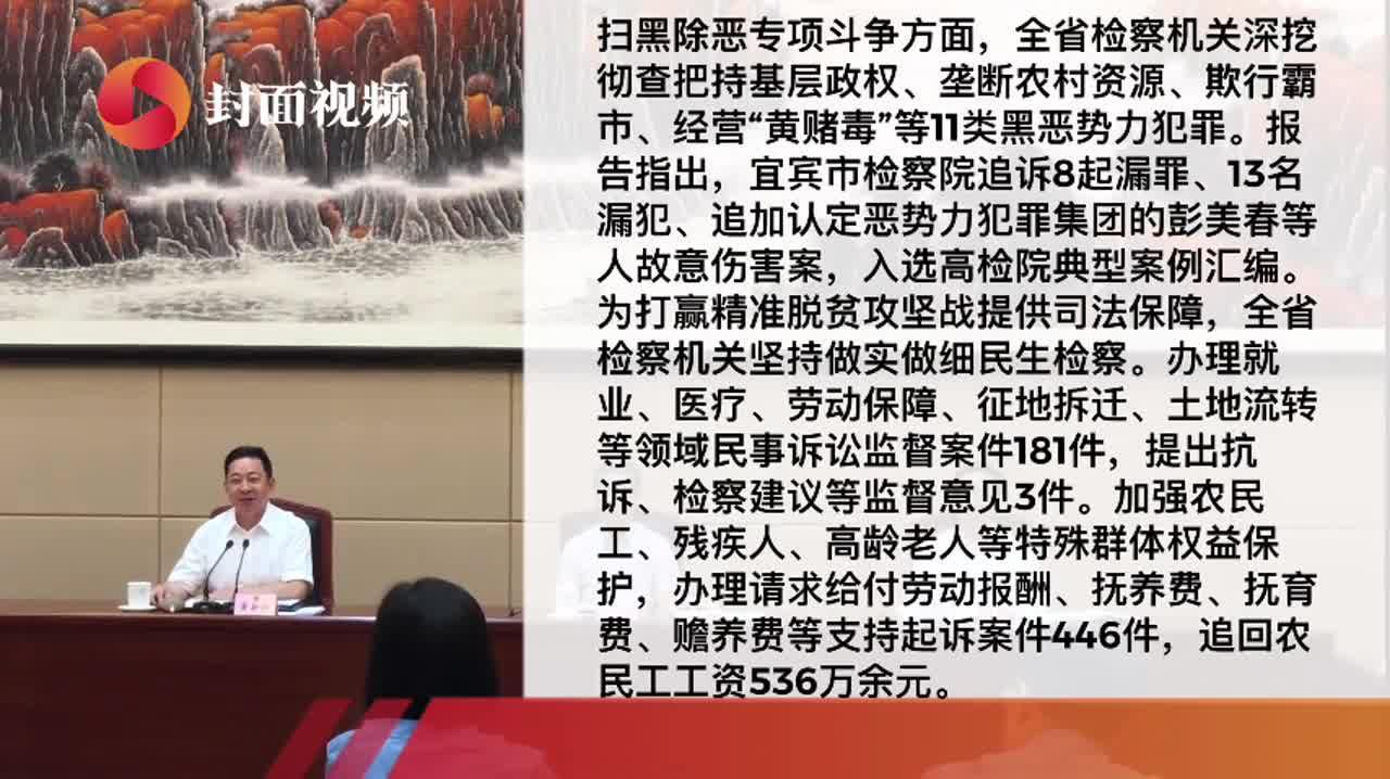 四川省检察院2019上半年重点工作推进如何?省人大常委会面对面听回答