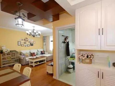 82平米两居室温馨小家,简约轻松,清新自然,阳台做书房很实用