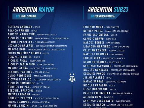 阿根廷大名单:梅西停赛缺席 迪巴拉劳塔罗领衔