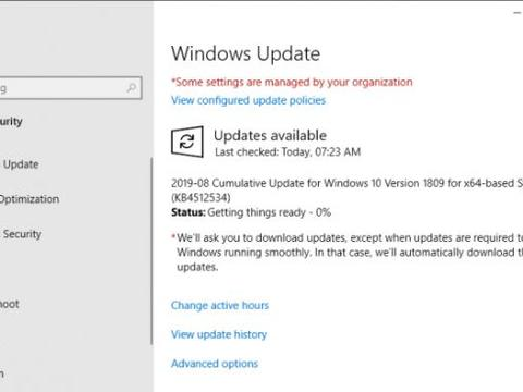 Windows 10十月更新获KB4512534更新:升至Build 17763.720