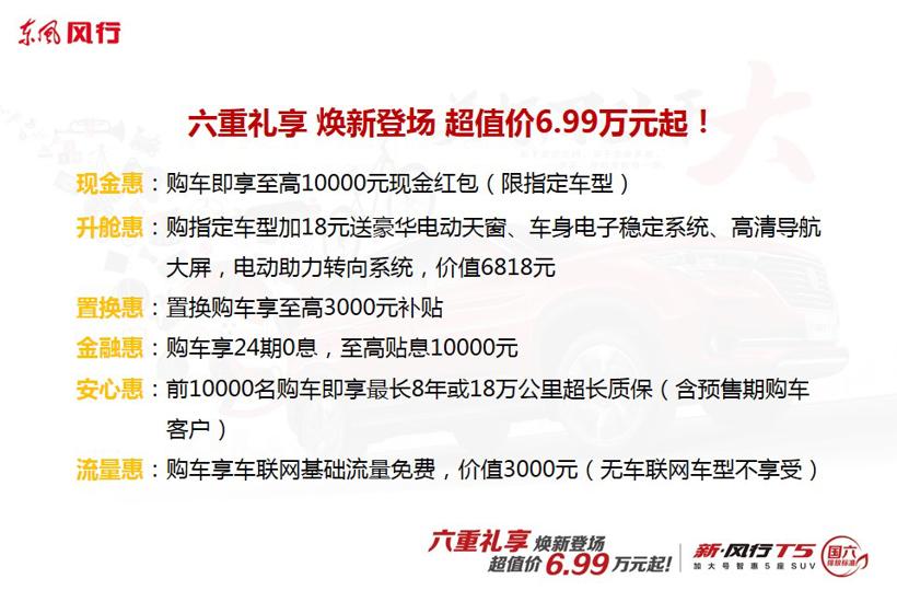 售6.99万元起 新风行T5正式上市 满足国六标准