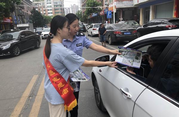 莆田荔城交警大队开展道路交通安全宣传活动
