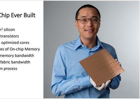 世界最大AI芯片诞生:1.2万亿晶体管 40万核心 4.6万平方毫米