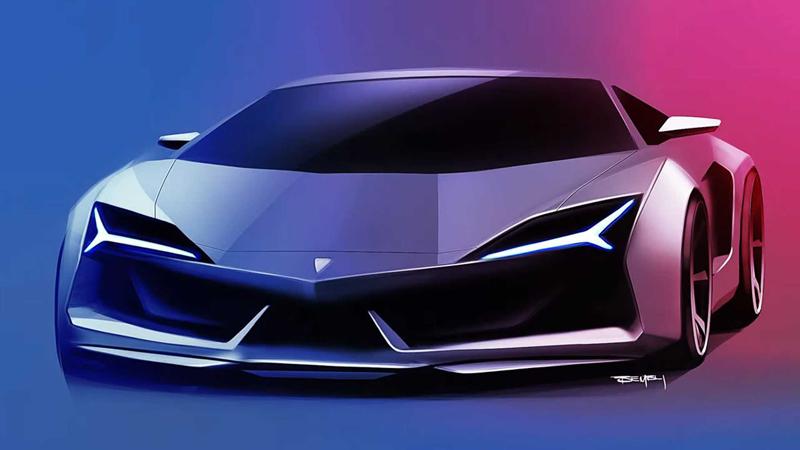 兰博基尼全新超跑渲染图发布 或将取代Aventador