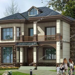 「爆款」10.8m×10.2m,两层新中式农村别墅,返乡建房非他莫属