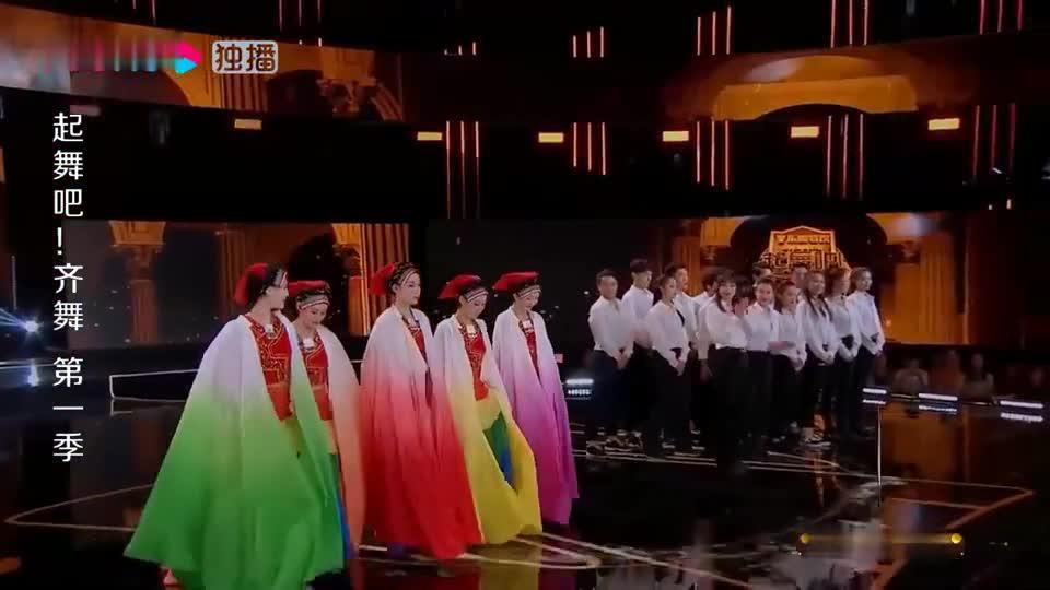 起舞吧!齐舞:石榴汁舞团和全明星啦啦操队,两队人数悬殊