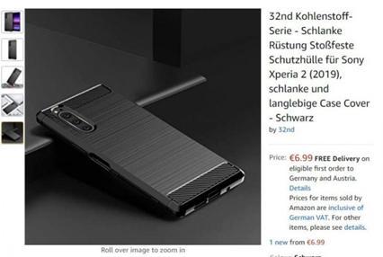 即将发布,索尼Xperia 2的保护套上线亚马逊