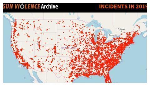 美国枪击案严重到令人发指!一年报销一个军,比打越南战争还惨