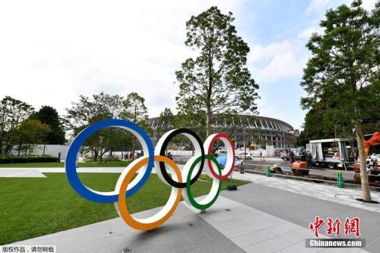 資料圖:日本東京奧運會主會場外部。