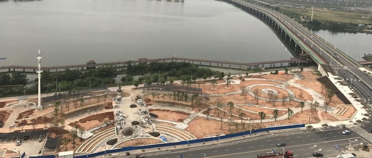 期待!南岸公园二期主体工程初具雏形,计划在国庆节前对外开放