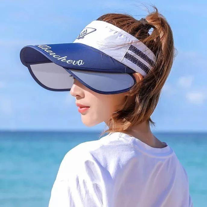 扔掉防晒伞!戴上这个全脸遮阳的防晒帽,阻挡99%紫外线,1秒伸缩,视觉脸变小1/3