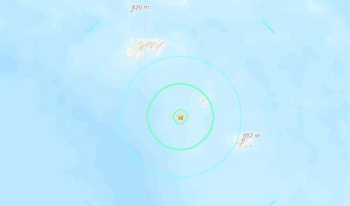 所罗门群岛附近发生6级地震 震源深度53.6公里
