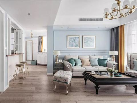 100平三居室,超喜欢厨房窗户、吧台设计,太个性实用!