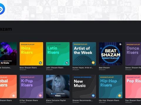 苹果开始将Shazam识别音乐内容以清单方式加入Apple Music
