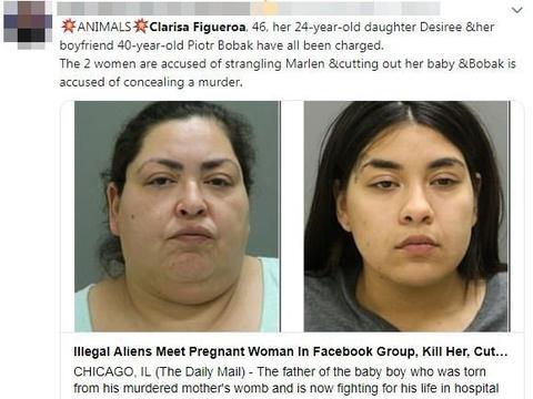 电线勒毙19岁少妇再剖肚夺婴 芝加哥母女撑3个月坚拒认罪