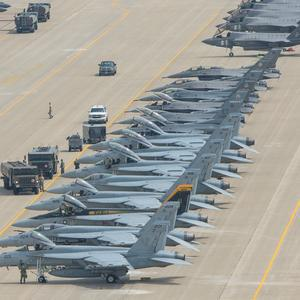 美国空军、海军、国民警卫队、海军陆战队主力战机大合影