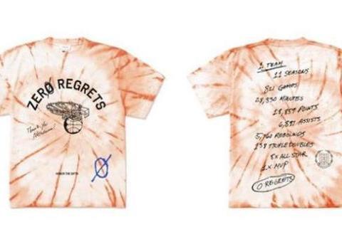 威少的新T恤主题是感恩雷霆,11年风雨值得留念,不曾后悔
