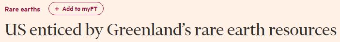 <b>特朗普为啥想买格陵兰岛?英媒:可能看上那的稀土|特朗普</b>