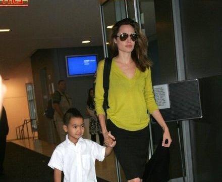 安吉丽娜朱莉送大儿子上大学不忘公干,双胞胎孩子家里快乐养宠物