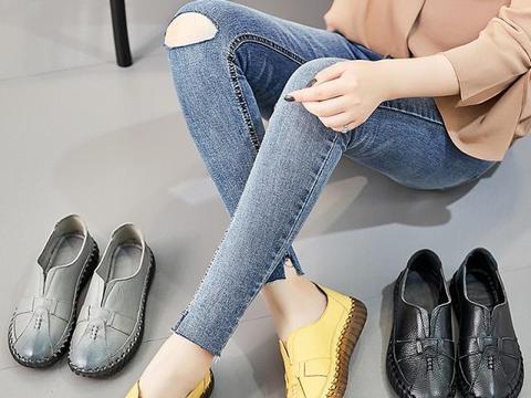 """七月新上一批""""初夏女鞋"""",柔软舒适不闷脚,适合6070后女人"""