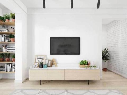 89㎡经典小三房,乳白色的色彩墙面,文艺范十足!