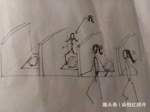"""男子上厕所时无聊,画出一张""""女厕图"""",女性朋友哭笑不得!"""
