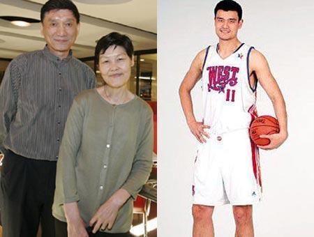姚明家族真实基因:祖孙三代全超两米,女儿九岁身高近1米7
