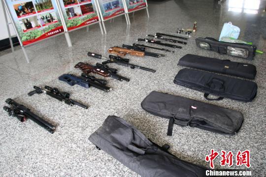 浙江安吉特大涉枪案告破 抓15人缴14把气枪数百枚铅弹