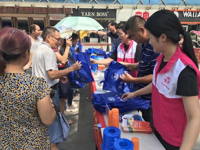 惠城区水口街道在华昌购物广场开展禁毒宣传活动