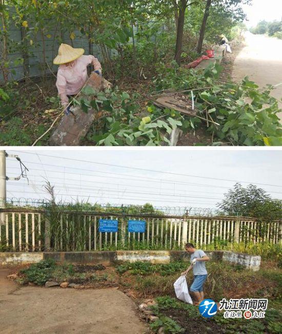 共青城市甘露镇开展整治铁路沿线环境