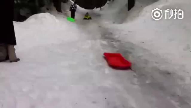 冬天滑雪正确打开方式,哈哈哈好欢乐。南方人表示体验不到,好想玩