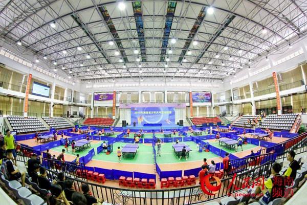 海南省少年乒乓球锦标赛屯昌开赛13支代表队现场角逐