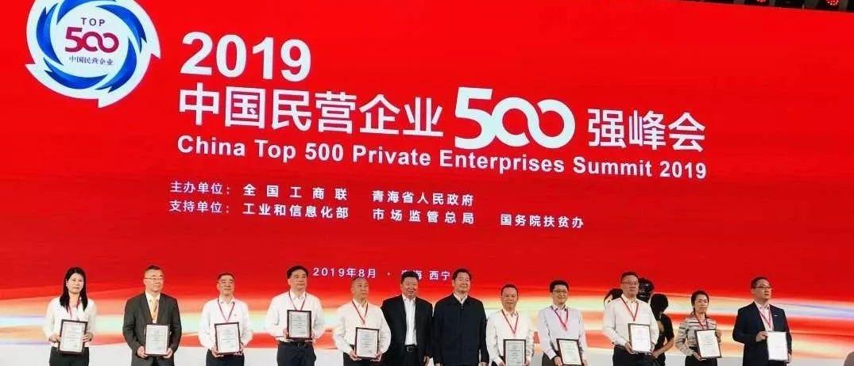 2019中国民企500强发布,荆州这家企业上榜!
