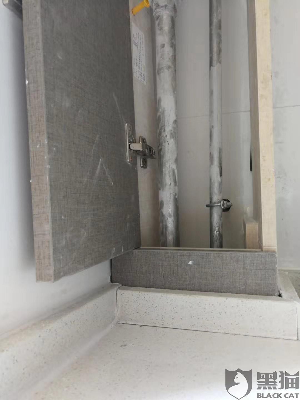 黑猫投诉:海尔橱柜质量不合格,台面高度过高,把煤气开关挡死,托不整改,三个多月还没完工