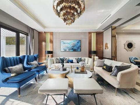 300平现代欧式风别墅,轻奢典雅的浪漫情怀!