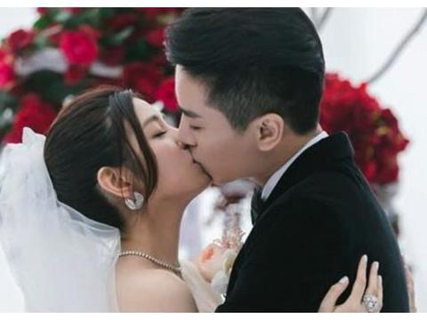 """明星""""婚礼吻"""",陈晓很强势,吴奇隆很甜蜜,图五我能笑一年"""