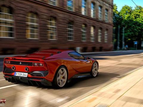 喜欢你单手开Ferrari SP38的样子,法拉利极致酷炫跑车
