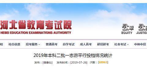 2019年河北本科二批投档线发布,高分超一本线59分,低分压线投档