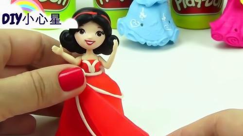 DIY创意:用橡皮泥打造芭比娃娃的裙子,太好看了