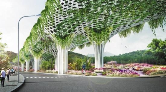 规划建设的大型花桥