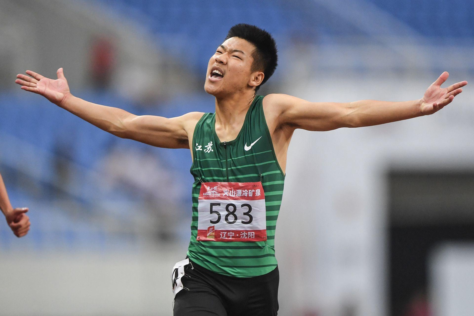 击败日本木村稜!隋高飞夺得中日韩青年赛200米冠军 谢震业接班人