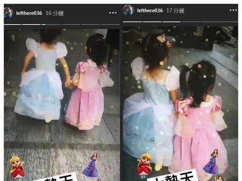 咘咘Bo妞出门买东西也要穿公主裙 修杰楷大呼无奈