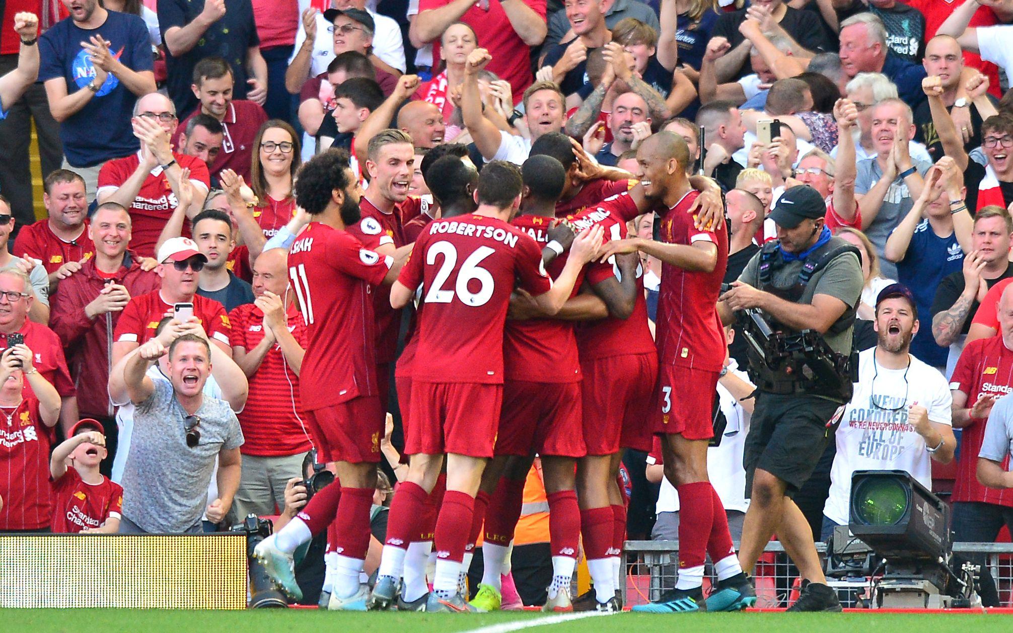 英超跨赛季12连胜,领头羊利物浦平队史纪录