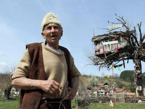 厌倦复杂的城市生活,男子辞职做了个树屋,一住就是十年