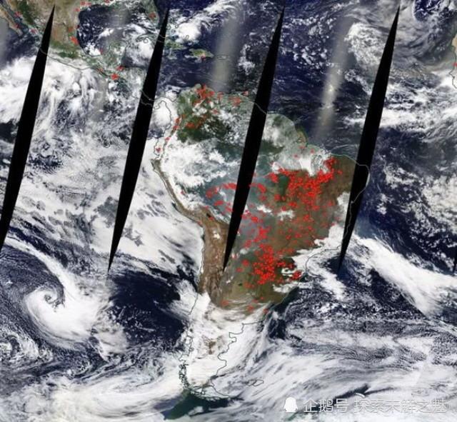 """地球之肺被""""呛""""到了!NASA卫星图像显示:巴西""""着火""""了"""