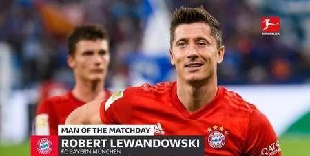 官方:莱万多夫斯基被评为德甲第2轮最佳球员