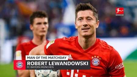 莱万多夫斯基被评为德甲第2轮最佳球员
