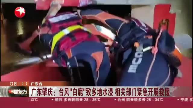 """广东肇庆:台风""""白鹿""""致多地水浸  相关部门紧急开展救援"""